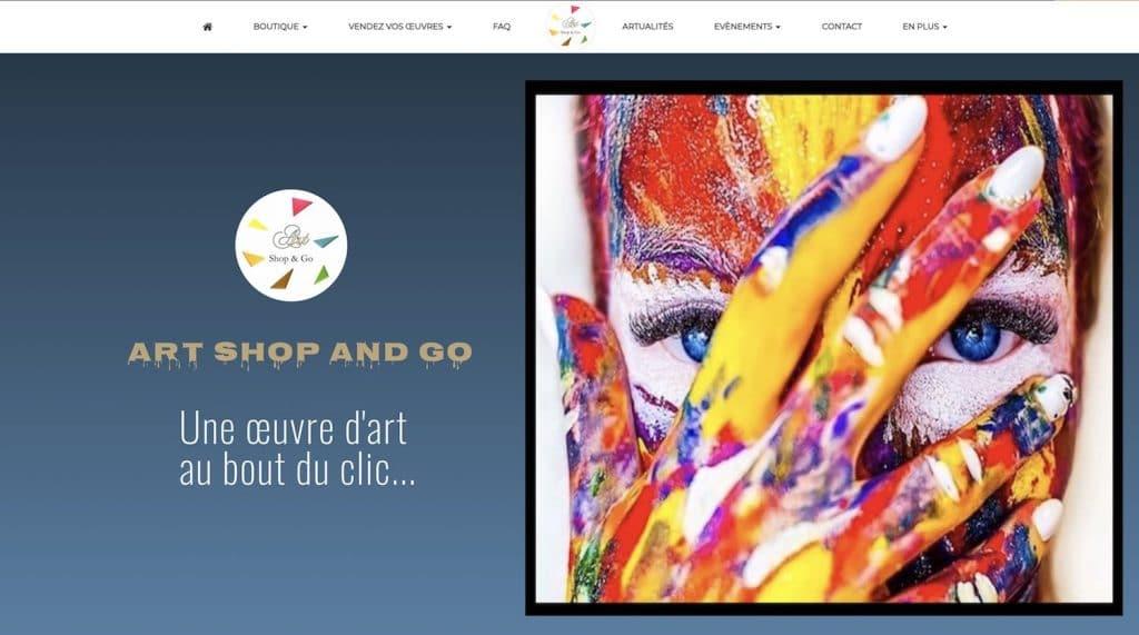 Page accueil du site ART SHOP AND GO