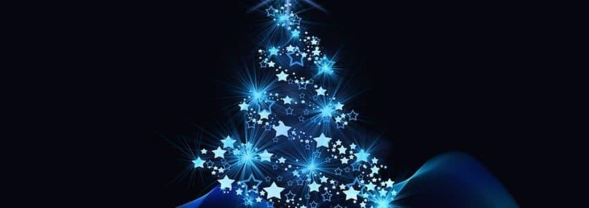 Sapin de Noël bleu