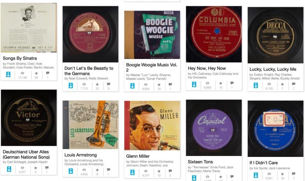 Pochettes de disques 78 tours