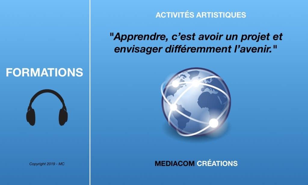 bannière formations avec Mediacom Créations