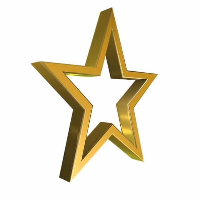 Étoile en or