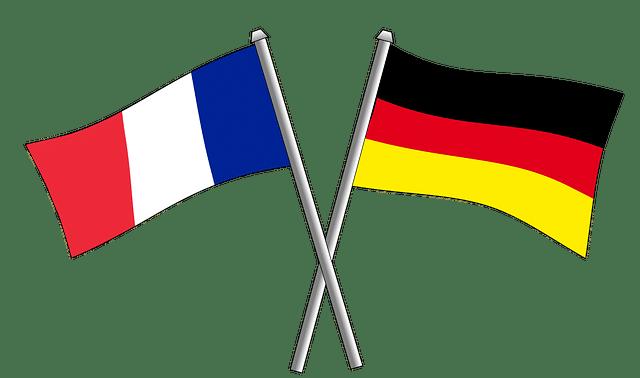 Drapeaux France et Allemagne