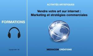 """Bannière de la formation en ligne : """"Vendre sur internet, marketing et stratégies commerciales""""."""